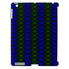 Diamond Alt Blue Green Woven Fabric Apple Ipad 3/4 Hardshell Case (compatible With Smart Cover)