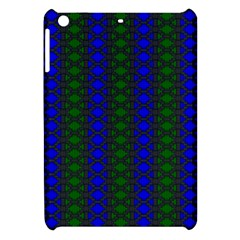 Diamond Alt Blue Green Woven Fabric Apple Ipad Mini Hardshell Case by AnjaniArt