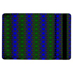 Diamond Alt Blue Green Woven Fabric Ipad Air Flip