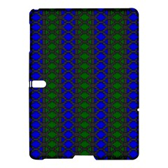 Diamond Alt Blue Green Woven Fabric Samsung Galaxy Tab S (10 5 ) Hardshell Case  by AnjaniArt