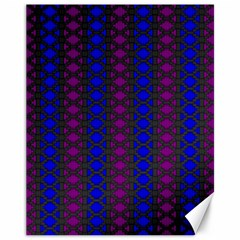 Diamond Alt Blue Purple Woven Fabric Canvas 11  X 14