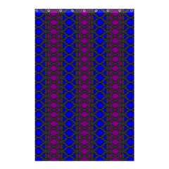Diamond Alt Blue Purple Woven Fabric Shower Curtain 48  X 72  (small)  by AnjaniArt