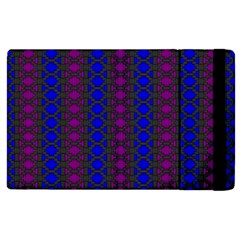 Diamond Alt Blue Purple Woven Fabric Apple Ipad 3/4 Flip Case