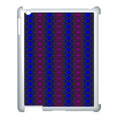 Diamond Alt Blue Purple Woven Fabric Apple Ipad 3/4 Case (white) by AnjaniArt
