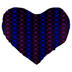 Diamond Alt Blue Purple Woven Fabric Large 19  Premium Heart Shape Cushions