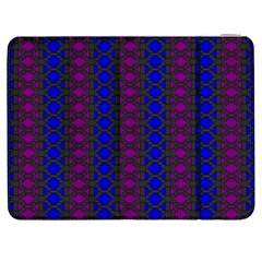 Diamond Alt Blue Purple Woven Fabric Samsung Galaxy Tab 7  P1000 Flip Case