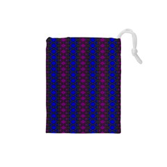 Diamond Alt Blue Purple Woven Fabric Drawstring Pouches (small)  by AnjaniArt