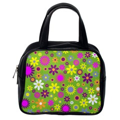Colorful Floral Flower Classic Handbags (one Side)