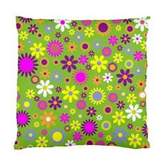 Colorful Floral Flower Standard Cushion Case (two Sides)