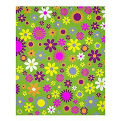 Colorful Floral Flower Shower Curtain 60  X 72  (medium)