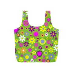 Colorful Floral Flower Full Print Recycle Bags (s)