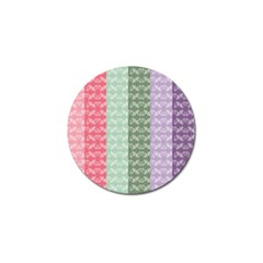 Digital Print Scrapbook Flower Leaf Color Green Gray Purple Blue Pink Golf Ball Marker (4 Pack) by AnjaniArt
