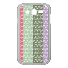Digital Print Scrapbook Flower Leaf Color Green Gray Purple Blue Pink Samsung Galaxy Grand Duos I9082 Case (white) by AnjaniArt