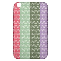 Digital Print Scrapbook Flower Leaf Color Green Gray Purple Blue Pink Samsung Galaxy Tab 3 (8 ) T3100 Hardshell Case  by AnjaniArt