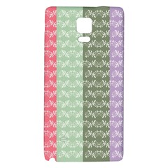 Digital Print Scrapbook Flower Leaf Color Green Gray Purple Blue Pink Galaxy Note 4 Back Case