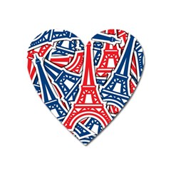 Eiffel Tower Paris Perancis Heart Magnet