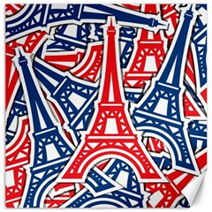 Eiffel Tower Paris Perancis Canvas 12  X 12   by AnjaniArt
