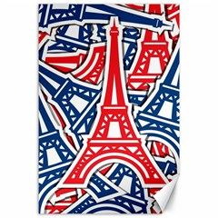 Eiffel Tower Paris Perancis Canvas 24  X 36  by AnjaniArt