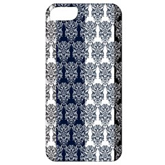 Digital Print Scrapbook Flower Leaf Colorgray Black Purple Blue Apple Iphone 5 Classic Hardshell Case