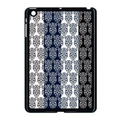 Digital Print Scrapbook Flower Leaf Colorgray Black Purple Blue Apple Ipad Mini Case (black)
