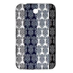 Digital Print Scrapbook Flower Leaf Colorgray Black Purple Blue Samsung Galaxy Tab 3 (7 ) P3200 Hardshell Case  by AnjaniArt
