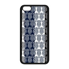 Digital Print Scrapbook Flower Leaf Colorgray Black Purple Blue Apple Iphone 5c Seamless Case (black) by AnjaniArt