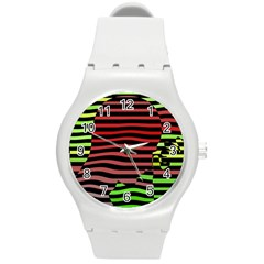 Face Palm Think Round Plastic Sport Watch (m) by AnjaniArt