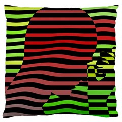 Face Palm Think Large Cushion Case (two Sides) by AnjaniArt