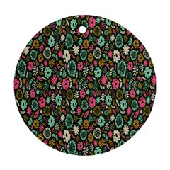 Floral Flower Flowering Rose Ornament (round)