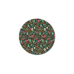Floral Flower Flowering Rose Golf Ball Marker (4 Pack) by AnjaniArt