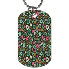 Floral Flower Flowering Rose Dog Tag (two Sides) by AnjaniArt
