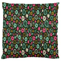 Floral Flower Flowering Rose Large Cushion Case (one Side)