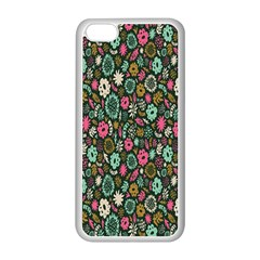 Floral Flower Flowering Rose Apple Iphone 5c Seamless Case (white) by AnjaniArt
