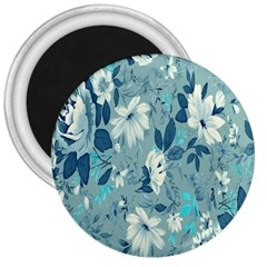Floral Pattern Wallpaper 3  Magnets by AnjaniArt