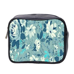 Floral Pattern Wallpaper Mini Toiletries Bag 2 Side by AnjaniArt