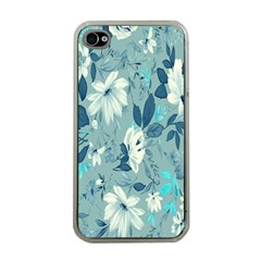 Floral Pattern Wallpaper Apple Iphone 4 Case (clear)