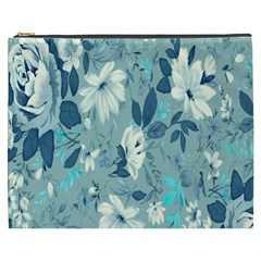 Floral Pattern Wallpaper Cosmetic Bag (xxxl)