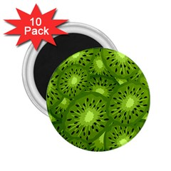 Fruit Kiwi Green 2 25  Magnets (10 Pack)  by AnjaniArt
