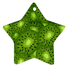 Fruit Kiwi Green Star Ornament (two Sides)