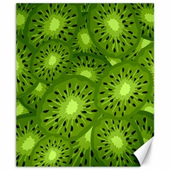 Fruit Kiwi Green Canvas 8  X 10