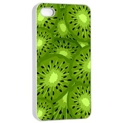 Fruit Kiwi Green Apple Iphone 4/4s Seamless Case (white) by AnjaniArt