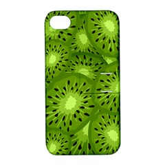 Fruit Kiwi Green Apple Iphone 4/4s Hardshell Case With Stand by AnjaniArt