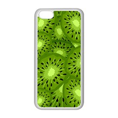 Fruit Kiwi Green Apple Iphone 5c Seamless Case (white) by AnjaniArt