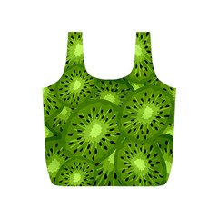 Fruit Kiwi Green Full Print Recycle Bags (s)  by AnjaniArt