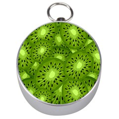 Fruit Kiwi Green Silver Compasses