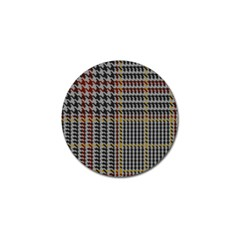 Glen Woven Fabric Golf Ball Marker (10 Pack) by AnjaniArt