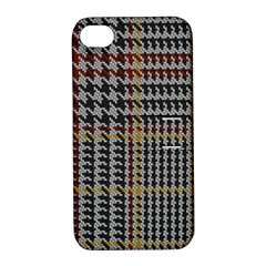Glen Woven Fabric Apple Iphone 4/4s Hardshell Case With Stand by AnjaniArt