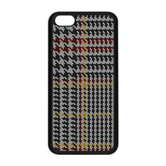 Glen Woven Fabric Apple Iphone 5c Seamless Case (black) by AnjaniArt