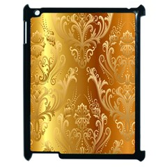 Golden Flower Vintage Gradient Resolution Apple Ipad 2 Case (black)
