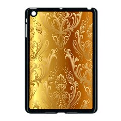 Golden Flower Vintage Gradient Resolution Apple Ipad Mini Case (black) by AnjaniArt